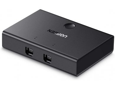 Ugreen USB 2.0 Switch, 1 in - 2 Out Για διαμοιρασμό 2 συσκευών USB (Mouse, Keyboard, Scanner, Printer) σε 2 PC - 30345
