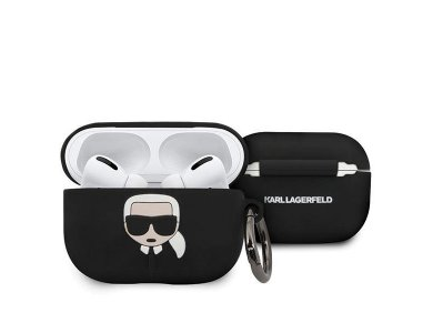 Karl Lagerfeld AirPods Pro Karl's Head Silicone Case, Black