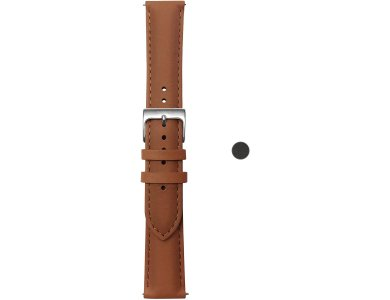 Withings Scanwatch Leather Strap, Δερμάτινο Λουράκι / Μπαντ για Smartwatch Scanwatch / Steel HR / Move κ.α., Καφέ