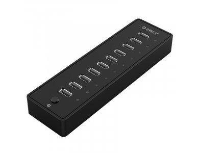 Orico 10-Port (USB2.0 Data *10) Data Hub with Power Supply