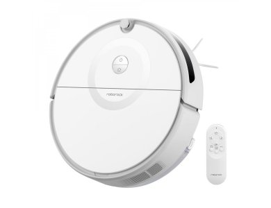 Roborock E5 Smart Robot Vacuum / Mopping Cleaner with SnapMop Mopping Function, HyperForce 25 OpticEye Navigation, White