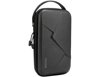 Telesin Organizer / Travel Case for Action Camera (GoPro, Apeman, DJI etc.) Selfie Stick, Mounting Strap & Large Accessories, Black