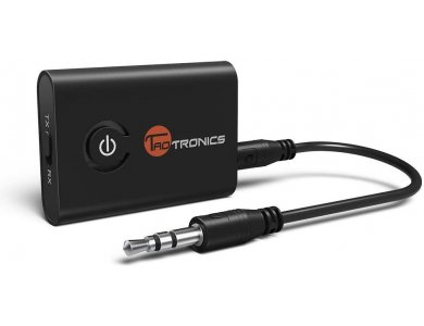 TaoTronics TT-BA07 Bluetooth 5.0 2-in1 Transmitter/Receiver, 3.5mm AUX Wireless Audio Adapter, aptX