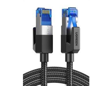 Ugreen F/FTP Cat.8 Καλώδιο Ethernet 5μ. με Νάυλον ύφανση, 40Gbps, 2000Mhz, RJ45 Cable Shielded, Μαύρο - 80433