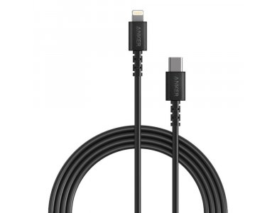 Anker PowerLine Select 1.8μ. Lightning USB-C Cable for Apple iPhone / iPad / iPod MFi & PD Charging, Black - A8613G11
