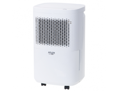 Adler AD 7917 Air Dehumidifier, Room Dehumidifier with Silent Operation & Auto Shut Off, 10L Per Day / 2.2L Container, White