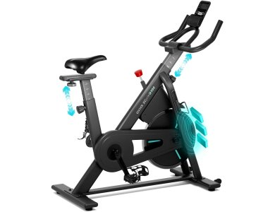 OVICX XCycle Q100C Spinning Bike, Στατικό Ποδήλατο Γυμναστικής, Με Οθόνη LCD, Ρύθμιση Σέλας 56 Θέσεων & Τιμονιού 3 Θέσεων