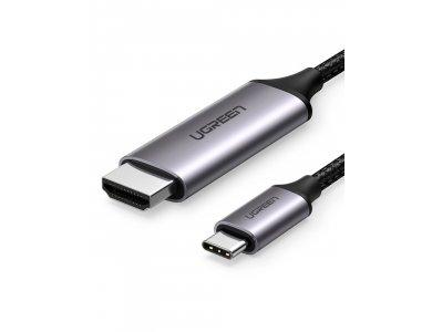 Ugreen USB-C to HDMI 4K@60Hz Adapter (Thunderbolt 3 / HDMI 2.0) Nylon Braiding 1,5m., Black - 50570