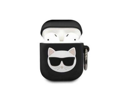 Karl Lagerfeld AirPods Choupette Silicone Case, Black
